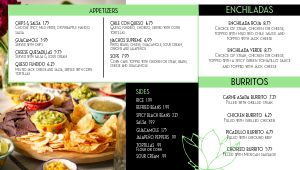 Elegant Mexican Digital Menu Board