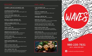 Contemporary Seafood Takeout Menu