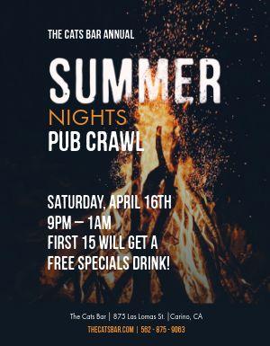 Summer Pub Crawl Flyer