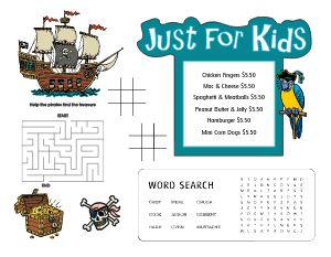 Pirate Kids Menu