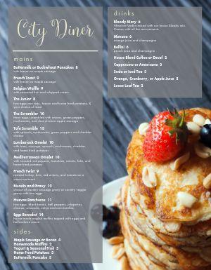 City Breakfast Menu