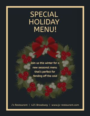 Winter Dinner Flyer