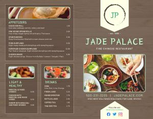 Chinese Palace Bifold Takeout Menu