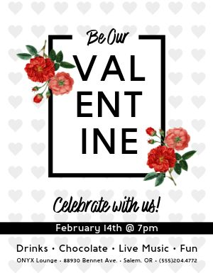 Valentine Celebration Flyer