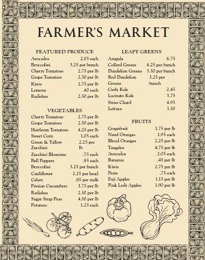Farmers Market Vegetable Poster