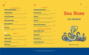 Seafood Fish Takeout Menu