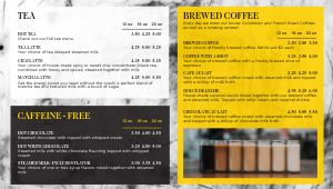 Coffee Roastery Digital Menu Board