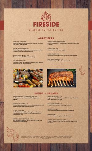 Woodgrain BBQ Menu