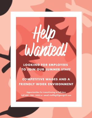 Summer Staff Flyer