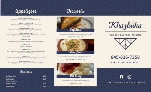 Navy Middle Eastern Takeout Menu