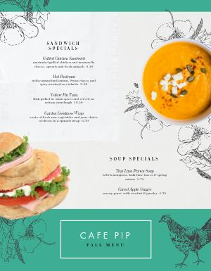 Flowery Cafe Menu