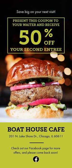 Burger Rack Card
