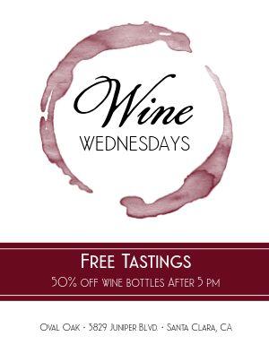 Wine Tastings Flyer