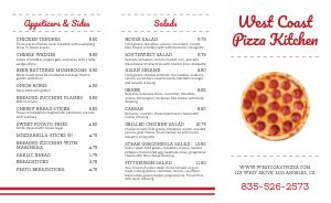 Pepperoni Plain Pizza Takeout Menu