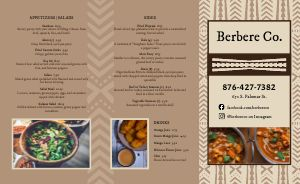 African Takeout Menu Inspiration