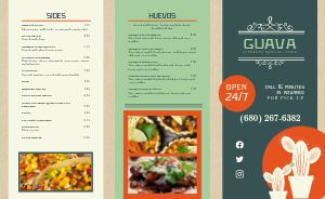 Cactus Authentic Mexican Takeout Menu