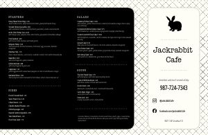 Hatchmark Cafe Folded Menu