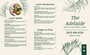 Example Country Club Takeout Menu