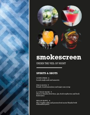 Abstract Bar Menu