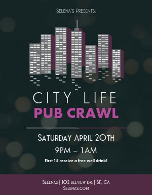 City Bar Crawl Flyer