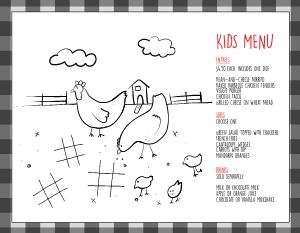 Sample Kids Menu