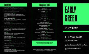 Alien Pub Takeout Menu