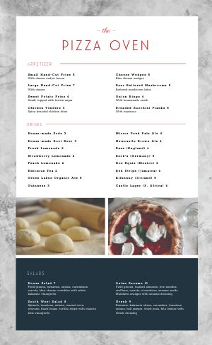 Marble Pizza Menu