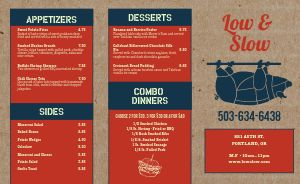 Cork BBQ Takeout Menu