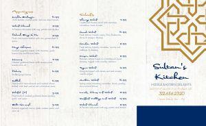 Kebab Takeout Menu