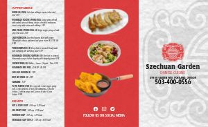 Chinese Cuisine Takeout Menu