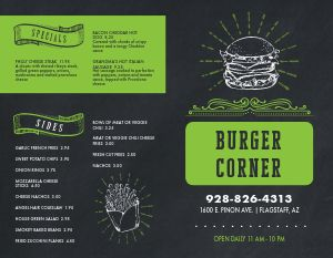 Local Burger Bifold Takeout Menu