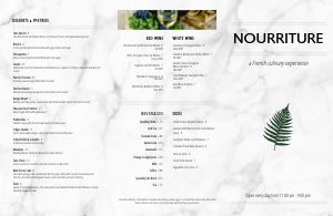 French Granite Folded Menu