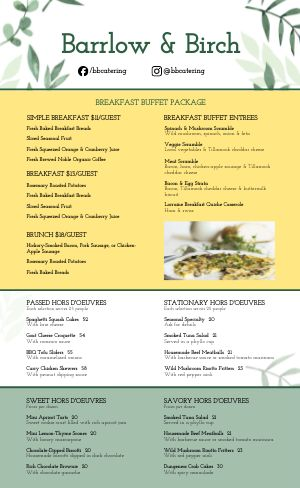 Brunch Catering Menu