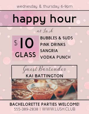 Club Happy Hour Flyer