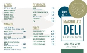 Sandwich Deli Takeout Menu
