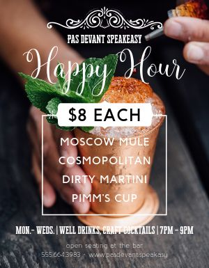 Happy Hour Photo Flyer