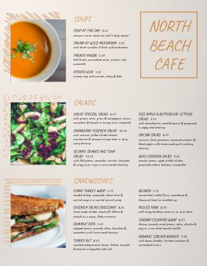 Family Beach Cafe Menu