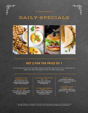 Daily Specials Promo Menu
