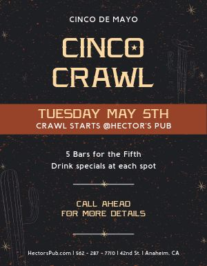 Cinco De Mayo Bar Crawl Flyer