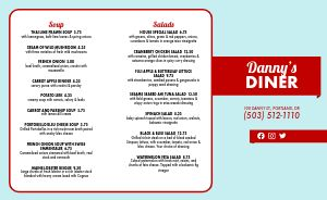 American Diner Family Takeout Menu