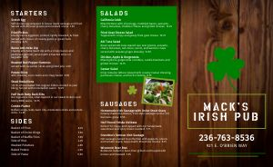 Wood Irish Takeout Menu