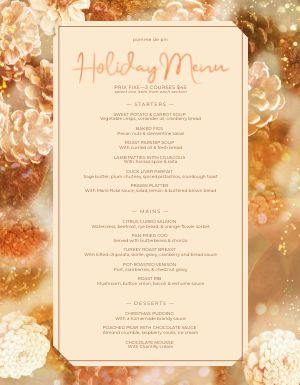 Golden Acorn Menu