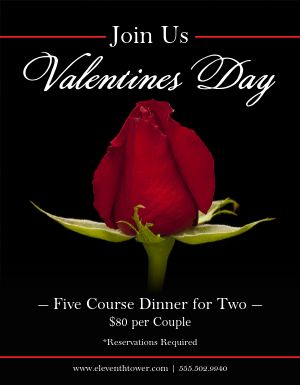 Valentines Restaurant Event Flyer