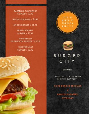 Burger Day Menu