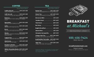 Simple Breakfast Takeout Menu