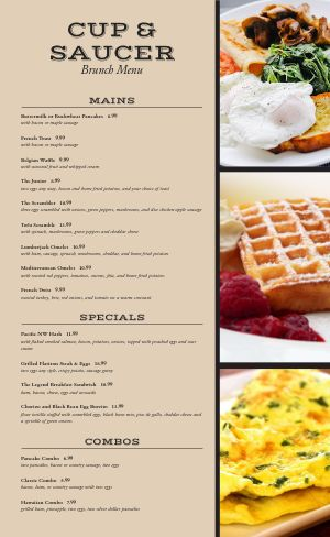 American Brunch Menu