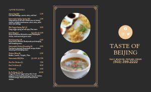 Simple Border Chinese Takeout Menu