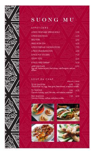 Vietnamese Cuisine Menu