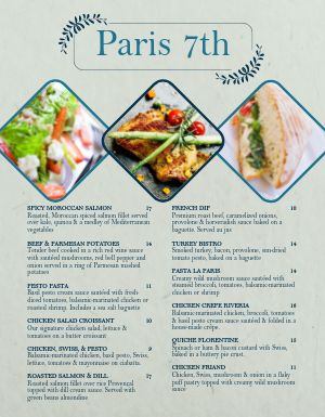 French Street Cafe Menu