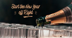 New Year Champagne Facebook Post